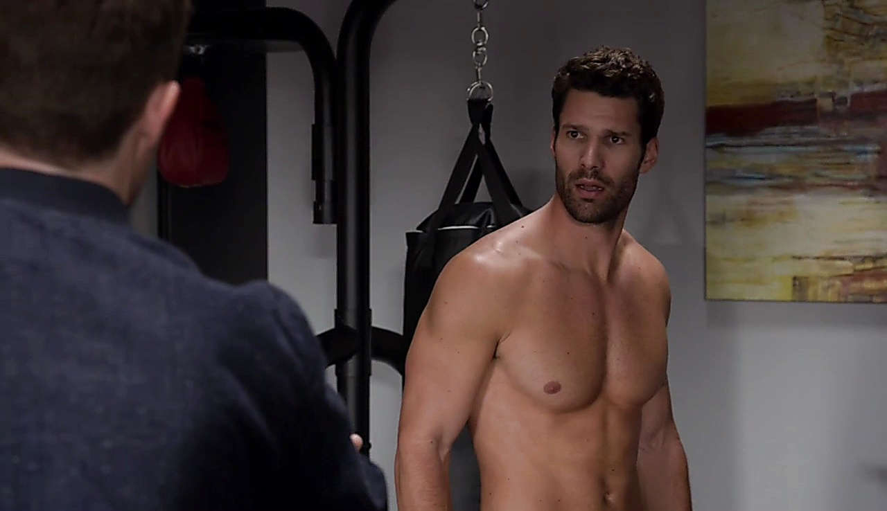 Aaron O Connell sexy shirtless scene January 18, 2018, 10am