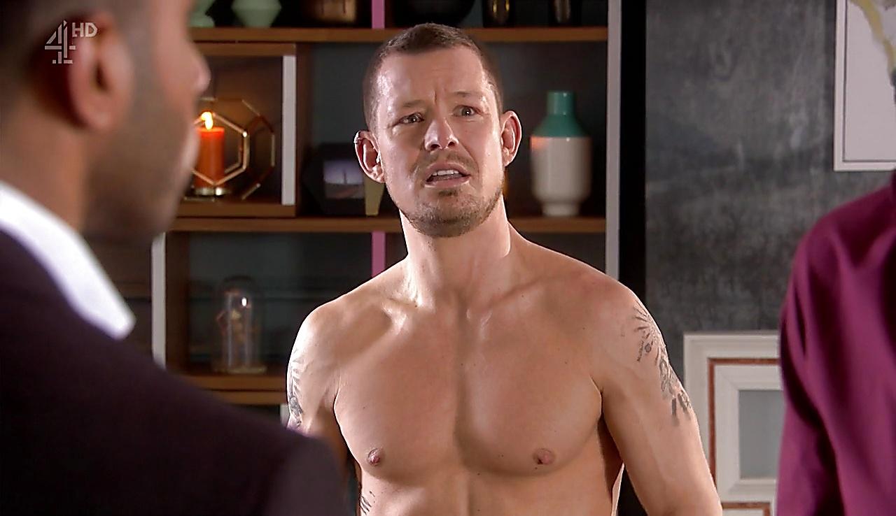 Adam Rickitt sexy shirtless scene February 9, 2018, 1pm