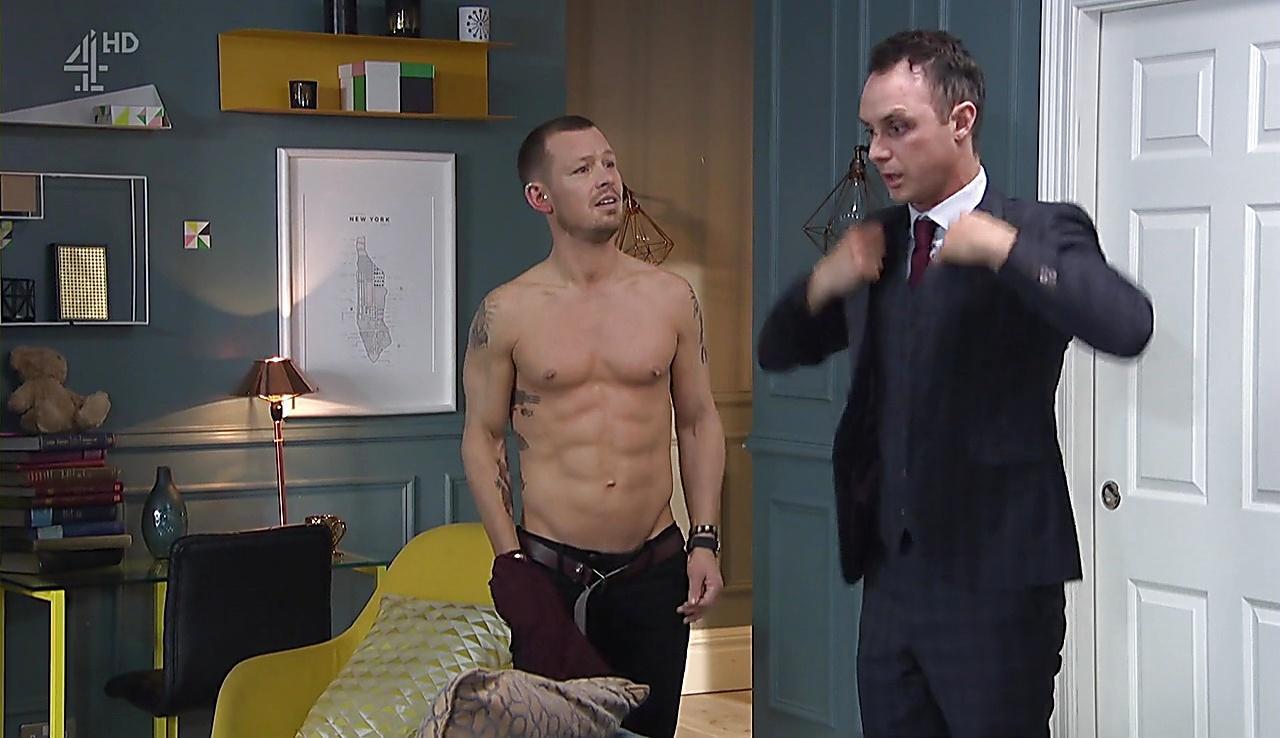 Adam Rickitt sexy shirtless scene February 15, 2018, 12pm
