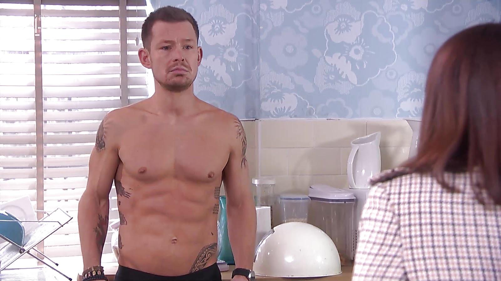 Adam Rickitt sexy shirtless scene January 30, 2019, 12pm