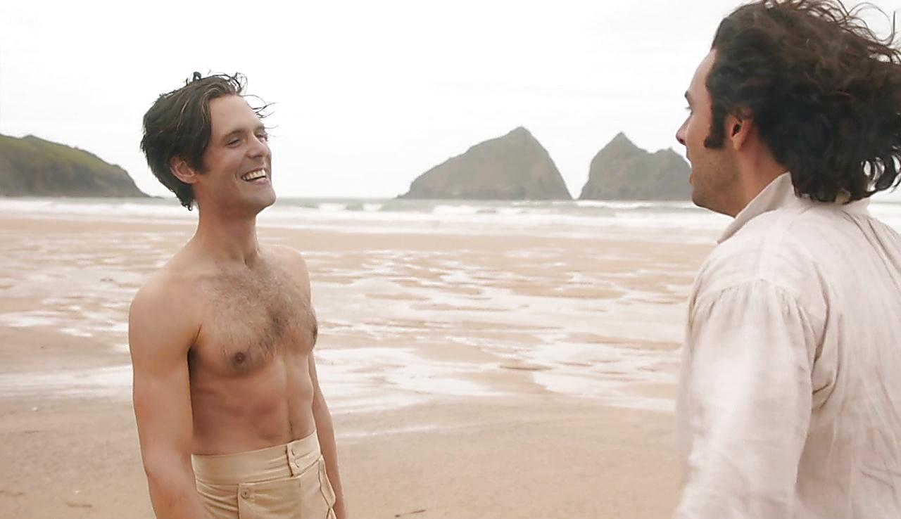 Aidan Turner sexy shirtless scene June 25, 2018, 12pm