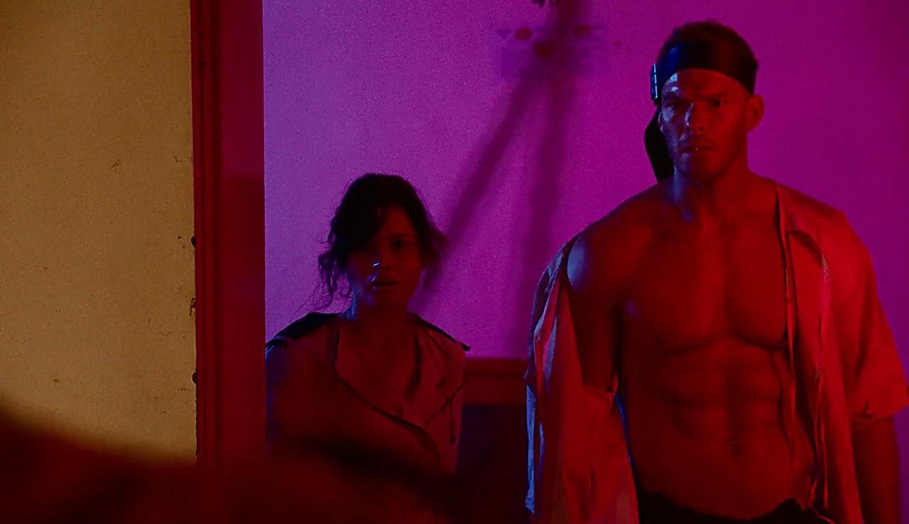 Alan Ritchson sexy shirtless scene July 6, 2017, 1pm