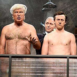 Alec Baldwin latest sexy shirtless November 5, 2017, 2am