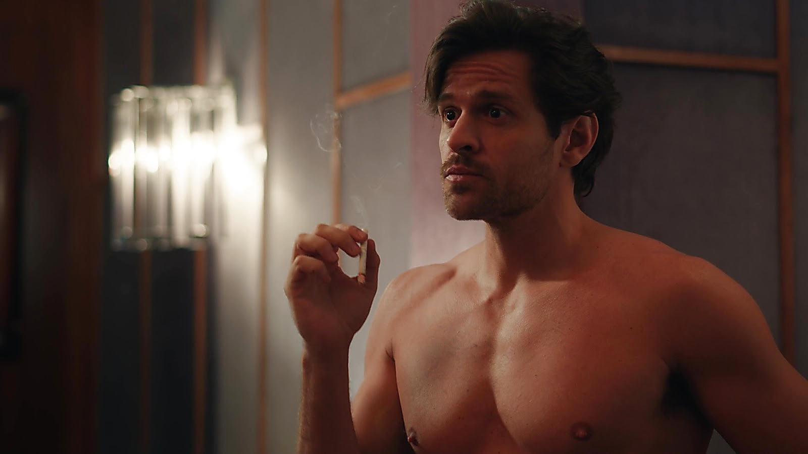 Alejandro Claveaux sexy shirtless scene June 25, 2020, 12pm