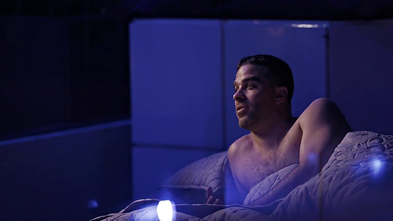 Alejandro Nones sexy shirtless scene November 11, 2018, 1pm