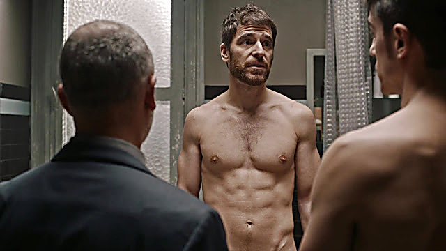Alejo Sauras sexy shirtless scene April 23, 2021, 7am