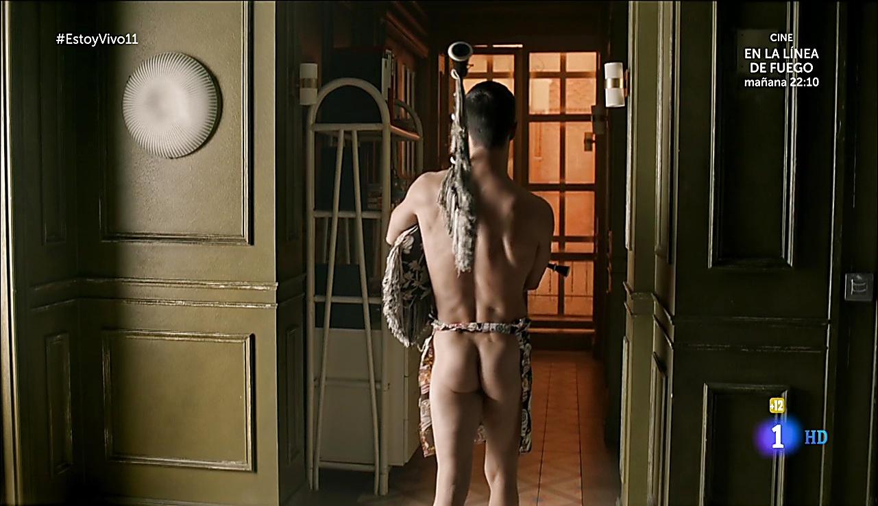 Alejo Sauras sexy shirtless scene November 24, 2017, 6am