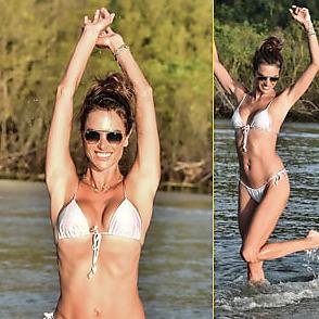 Alessandra Ambrosio latest sexy shirtless February 3, 2021, 2pm