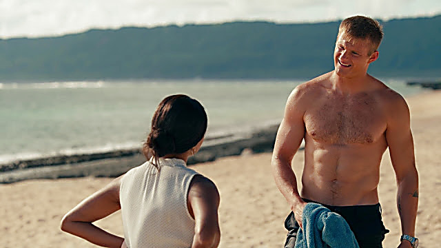Alexander Ludwig sexy shirtless scene November 5, 2020, 6am