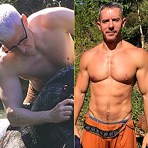 Anderson Cooper latest sexy shirtless December 20, 2016, 6pm