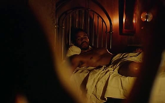 Andre Holland sexy shirtless scene October 20, 2014, 3pm