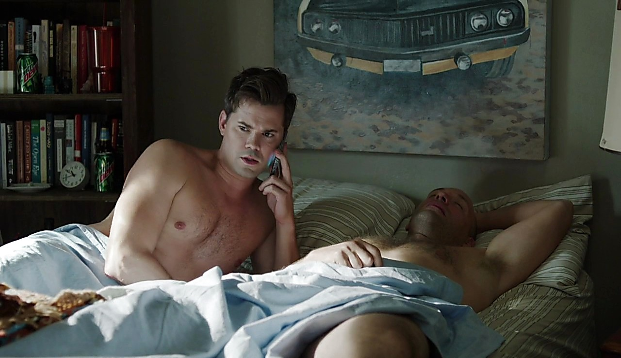 Andrew Rannells sexy shirtless scene March 27, 2017, 5am