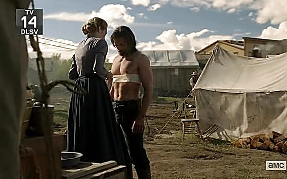 Anson Mount sexy shirtless scene September 1, 2014, 1pm