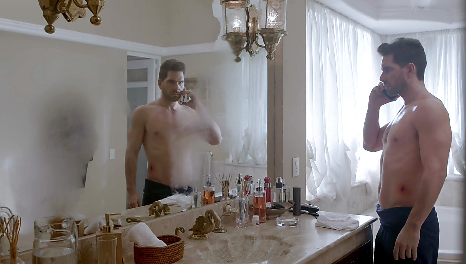 Arap Bethke sexy shirtless scene April 11, 2017, 12pm