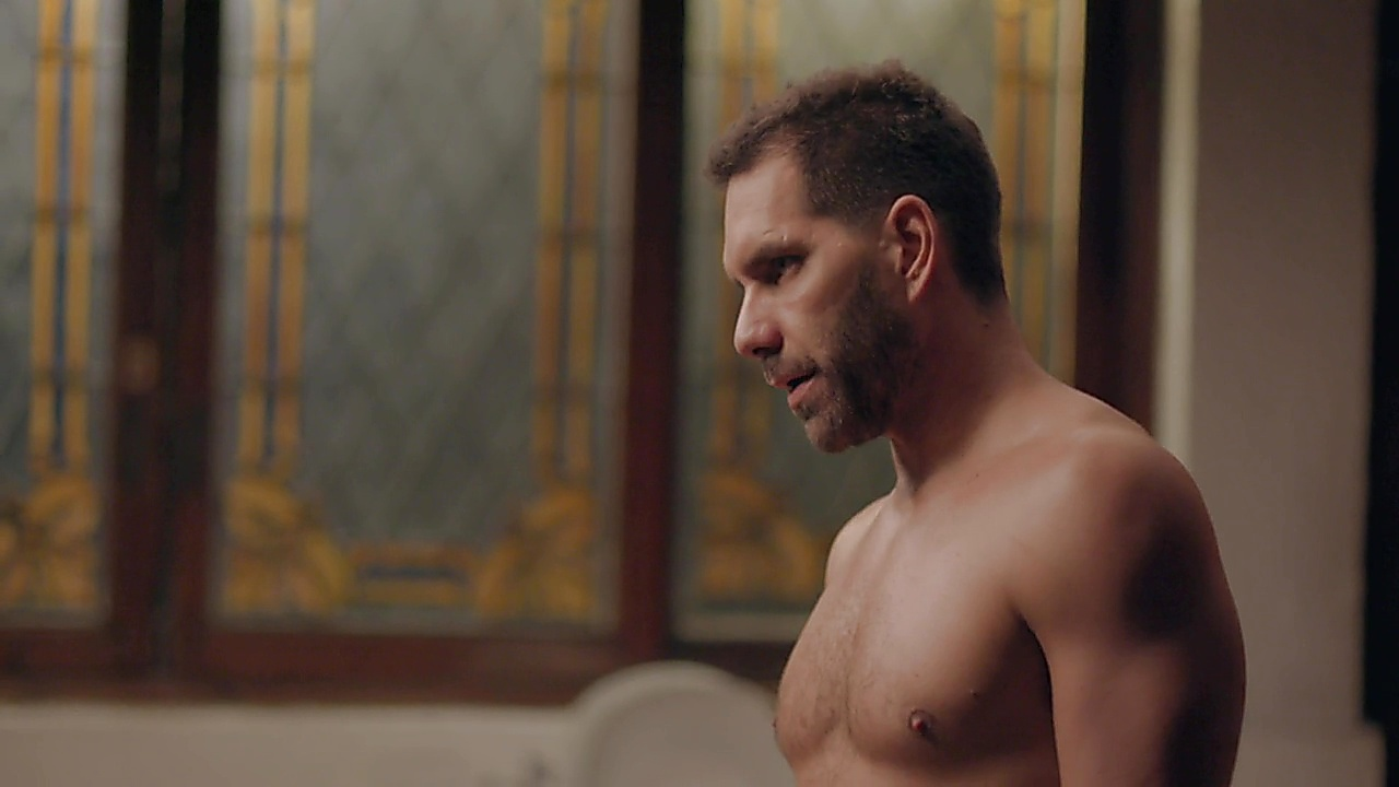 Arap Bethke sexy shirtless scene October 2, 2018, 12pm