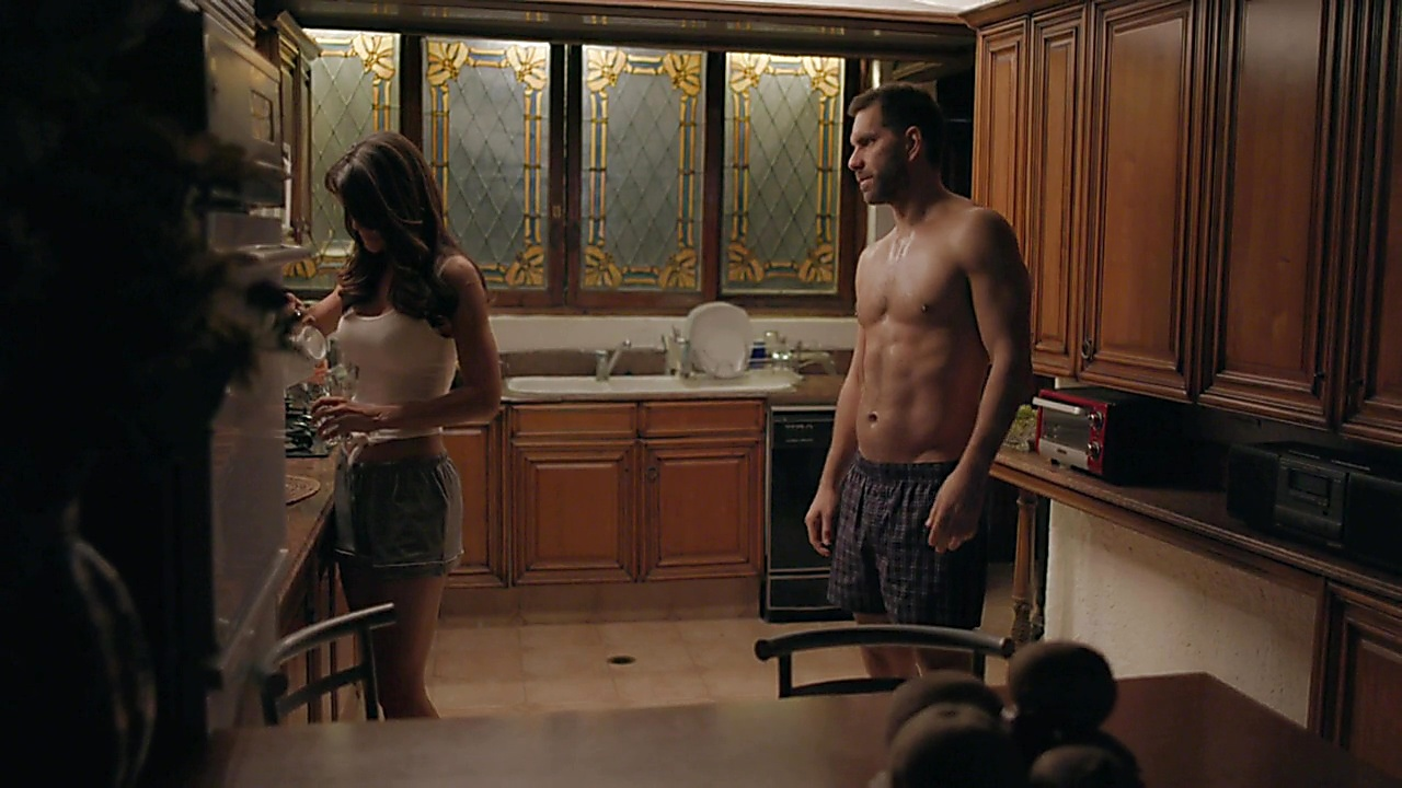 Arap Bethke sexy shirtless scene October 2, 2018, 12pm
