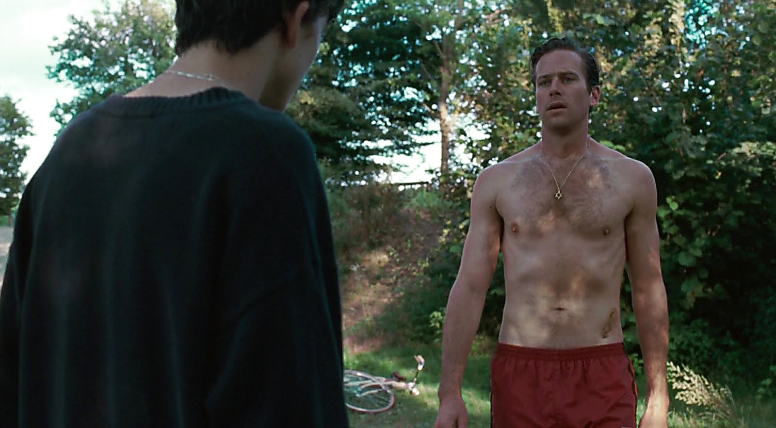 Armie Hammer sexy shirtless scene February 17, 2018, 1pm