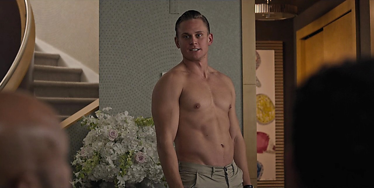 Billy Magnussen sexy shirtless scene July 14, 2017, 12pm