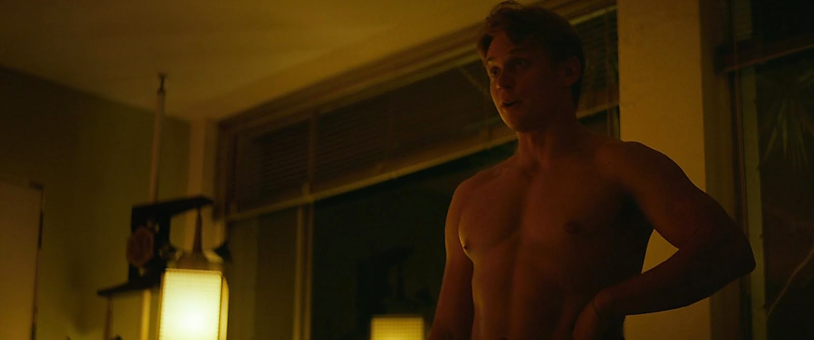Billy Magnussen sexy shirtless scene October 24, 2017, 1pm