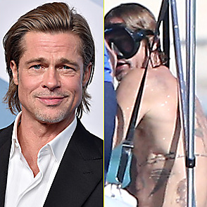 Brad Pitt latest sexy shirtless January 4, 2021, 8pm