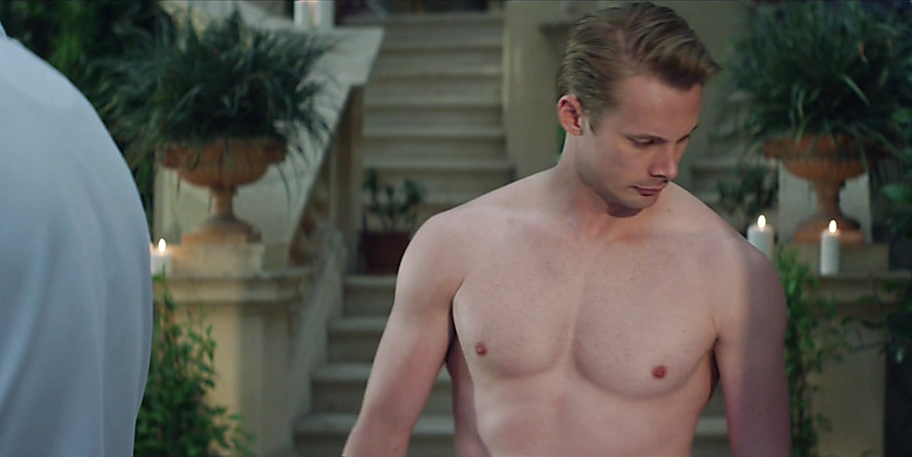 Bradley James sexy shirtless scene November 28, 2017, 1pm