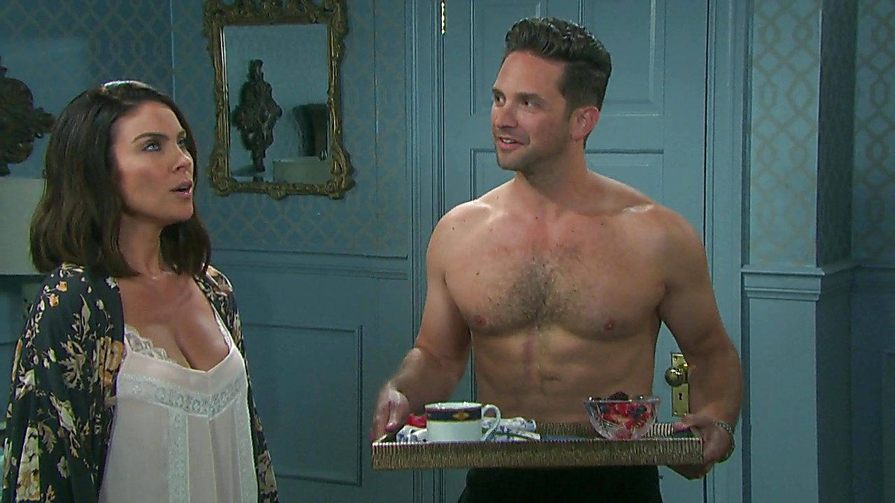 Brandon Barash sexy shirtless scene April 3, 2019, 9am