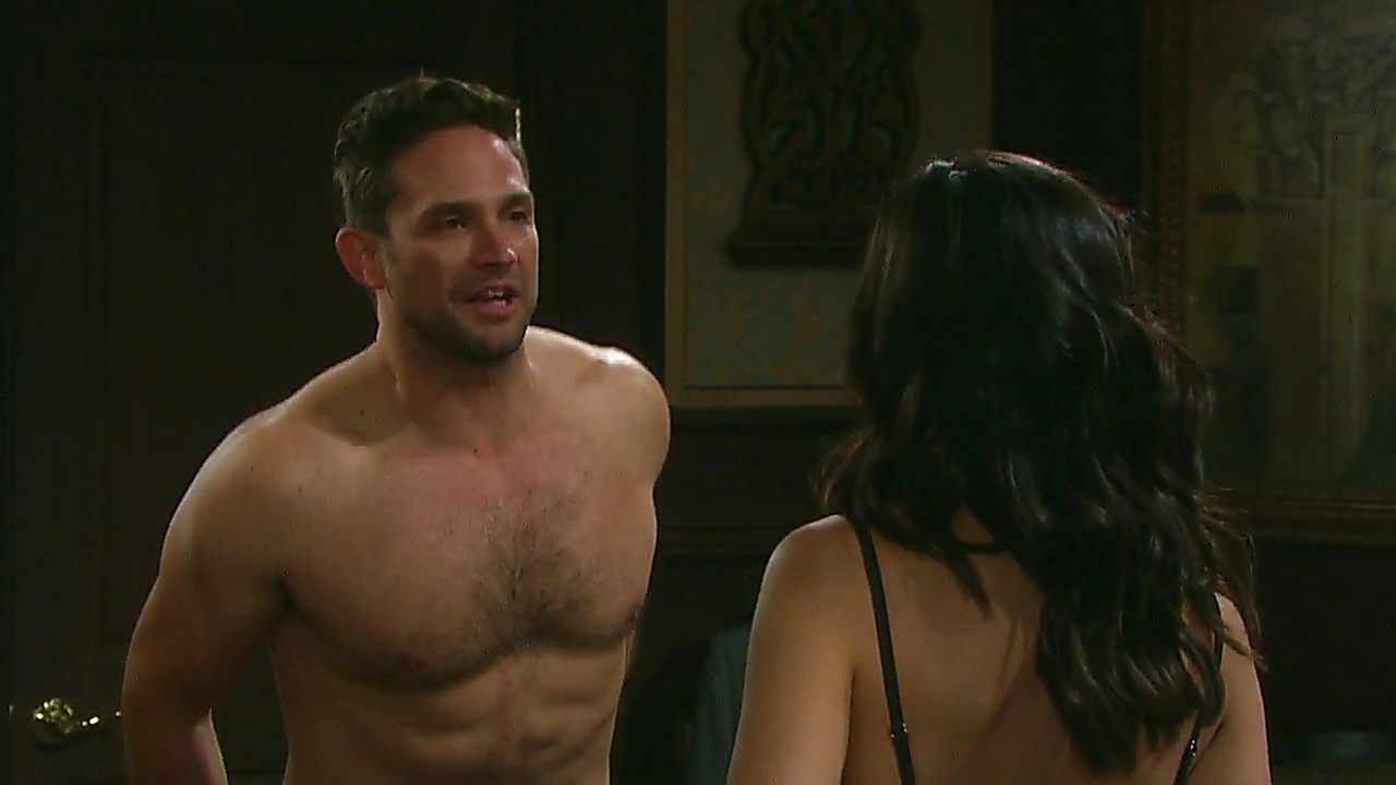 Brandon Barash sexy shirtless scene April 24, 2019, 1pm