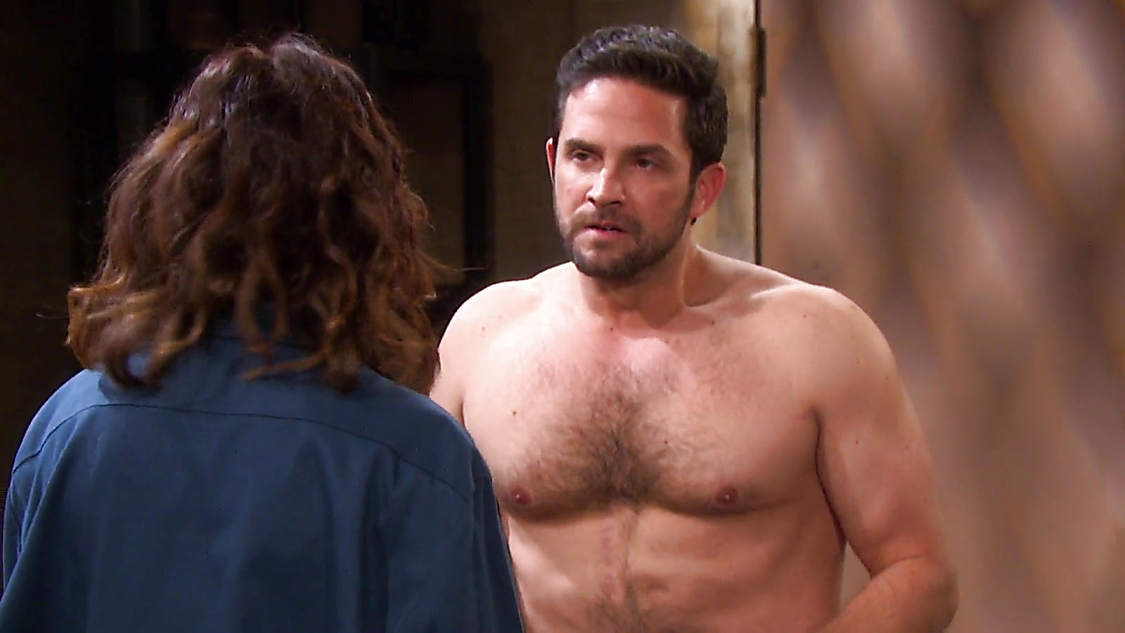 Brandon Barash sexy shirtless scene July 31, 2020, 1pm