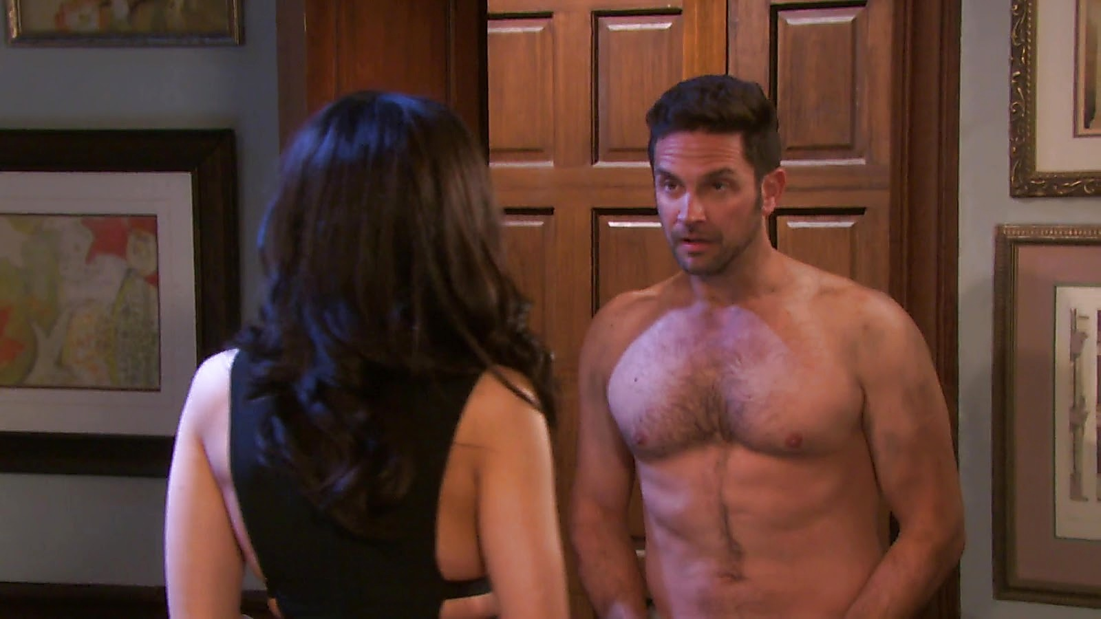 Brandon Barash sexy shirtless scene August 8, 2020, 2am