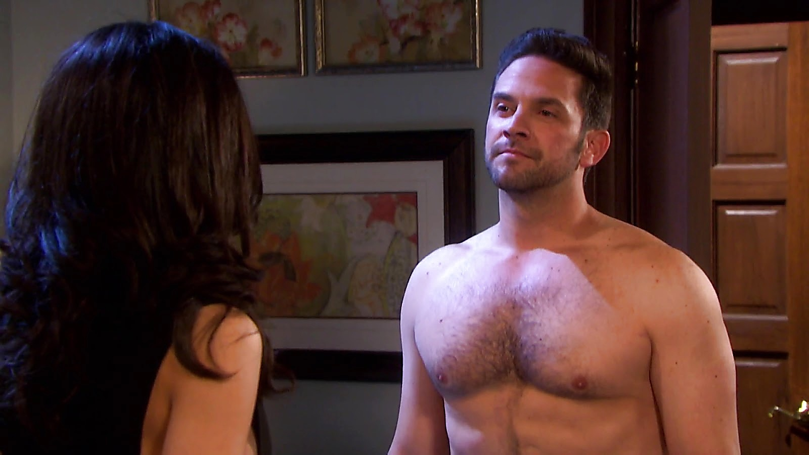 Brandon Barash sexy shirtless scene August 9, 2020, 12pm