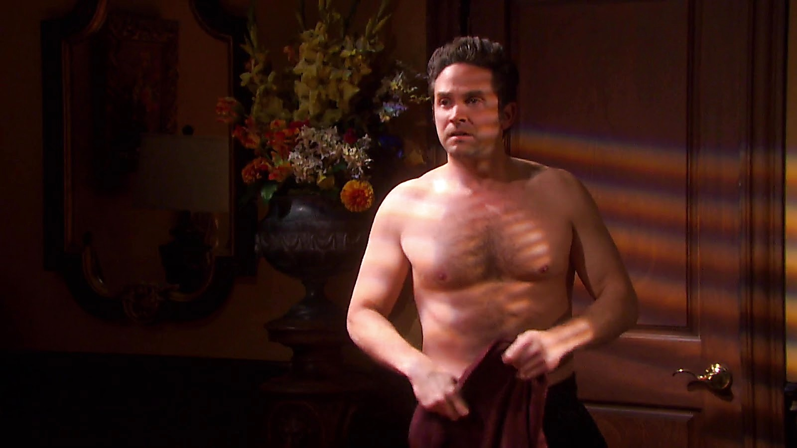 Brandon Barash sexy shirtless scene September 6, 2020, 1pm