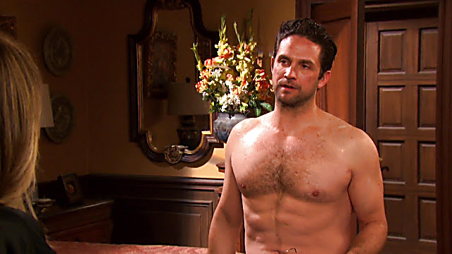 Brandon Barash sexy shirtless scene October 4, 2020, 1pm