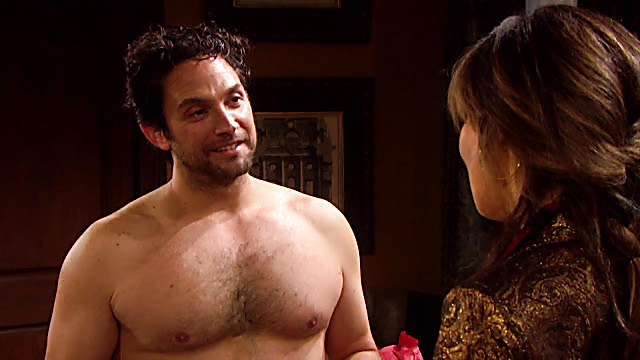 Brandon Barash sexy shirtless scene December 19, 2020, 8am