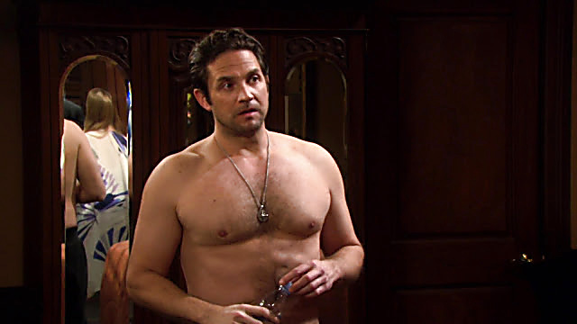 Brandon Barash sexy shirtless scene January 3, 2021, 1pm
