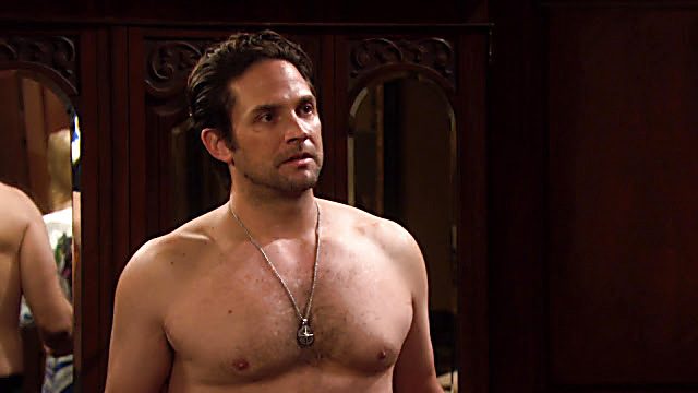 Brandon Barash sexy shirtless scene January 5, 2021, 1pm