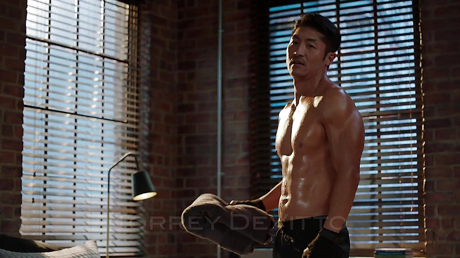 Brian Tee sexy shirtless scene October 18, 2018, 11am