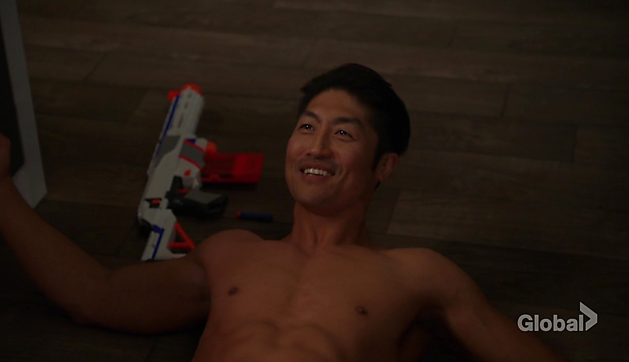 Brian Tee sexy shirtless scene March 6, 2018, 12pm
