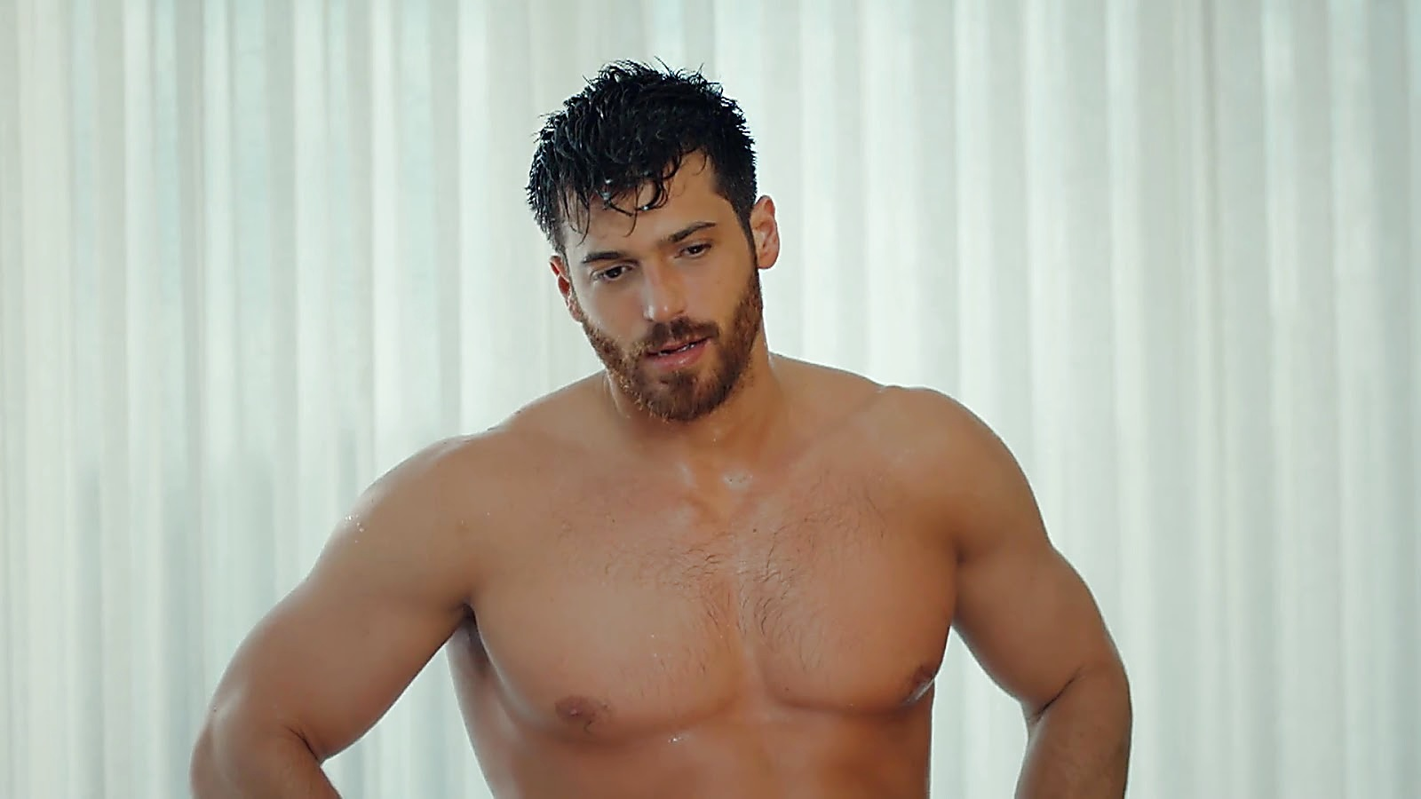 Can Yaman sexy shirtless scene July 2, 2020, 1pm