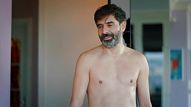 Cansel Elcin sexy shirtless scene December 30, 2020, 6am