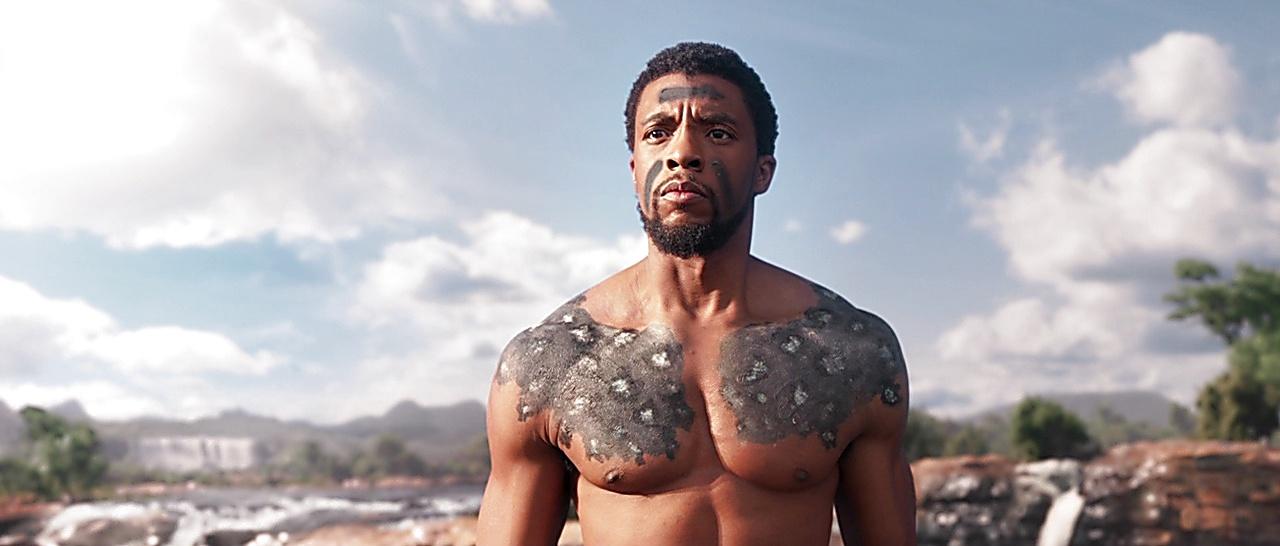 Chadwick Boseman sexy shirtless scene May 3, 2018, 11am