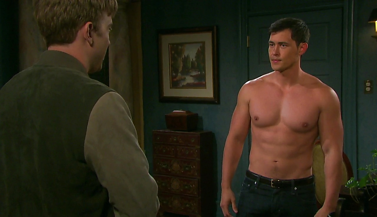 Chandler Massey sexy shirtless scene December 7, 2017, 2pm