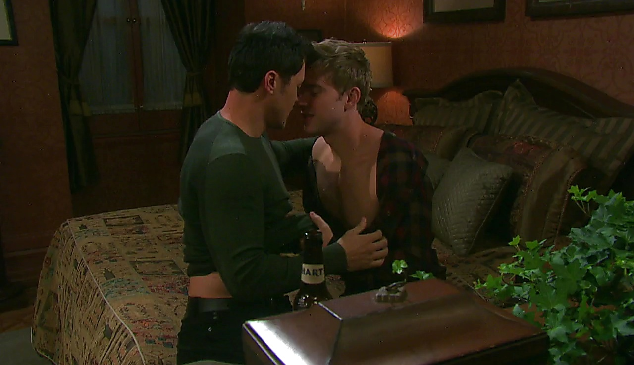 Chandler Massey sexy shirtless scene March 13, 2018, 12pm