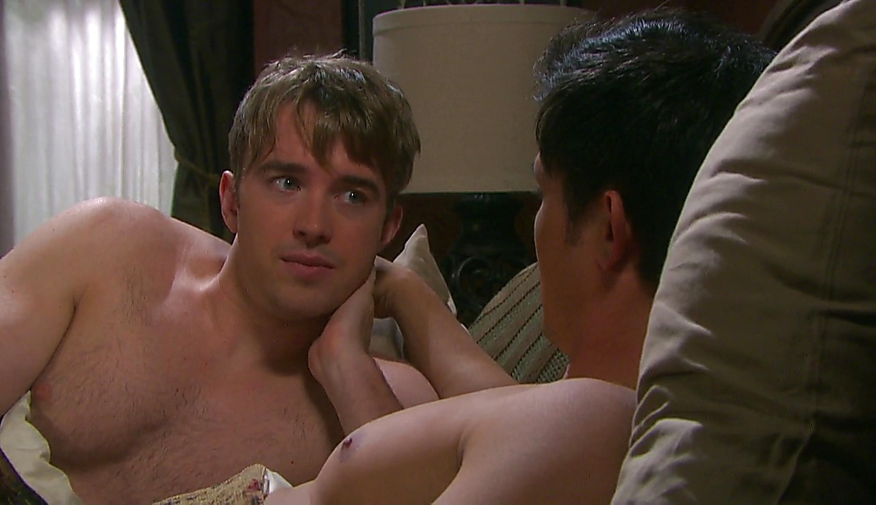 Chandler Massey sexy shirtless scene April 18, 2018, 11am