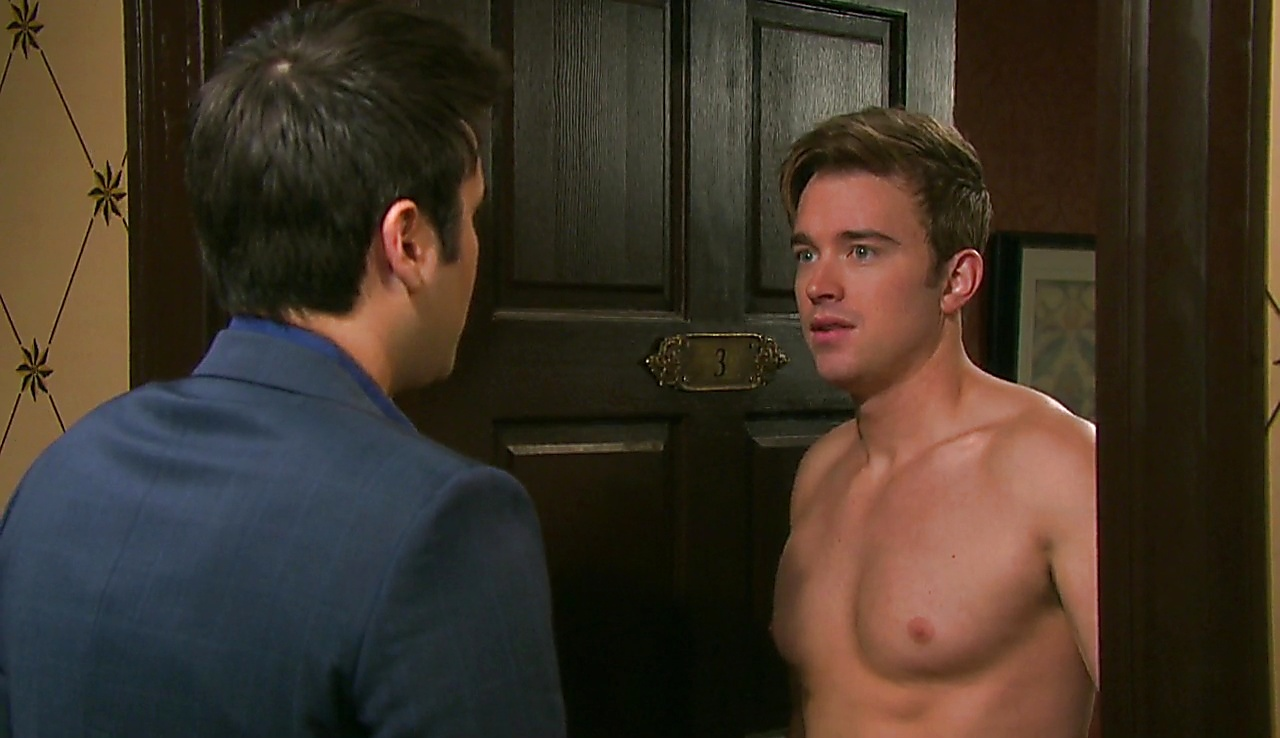 Chandler Massey sexy shirtless scene June 12, 2018, 11am