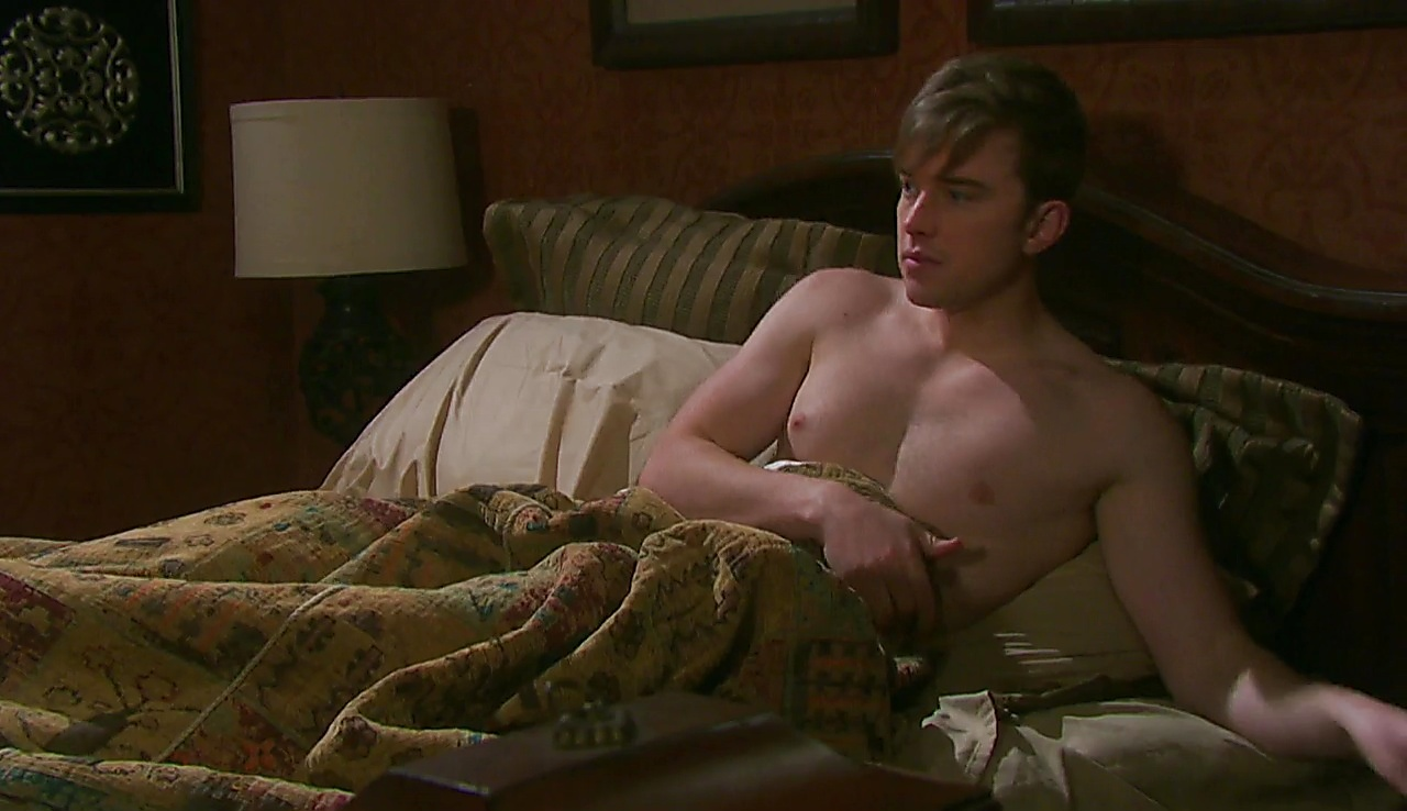 Chandler Massey sexy shirtless scene August 4, 2018, 11am