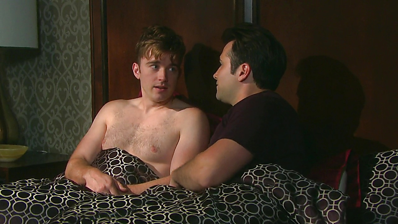 Chandler Massey sexy shirtless scene February 20, 2019, 11am