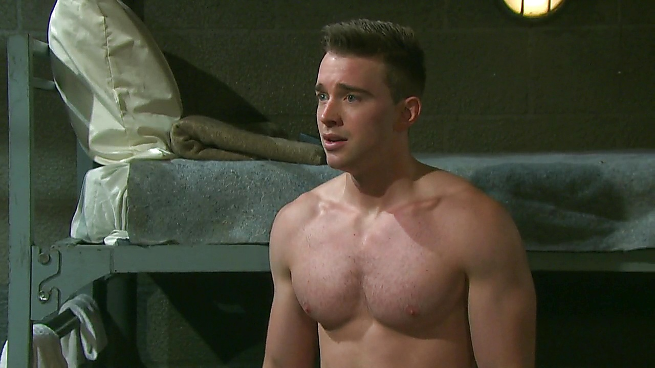 Chandler Massey sexy shirtless scene December 22, 2019, 1pm