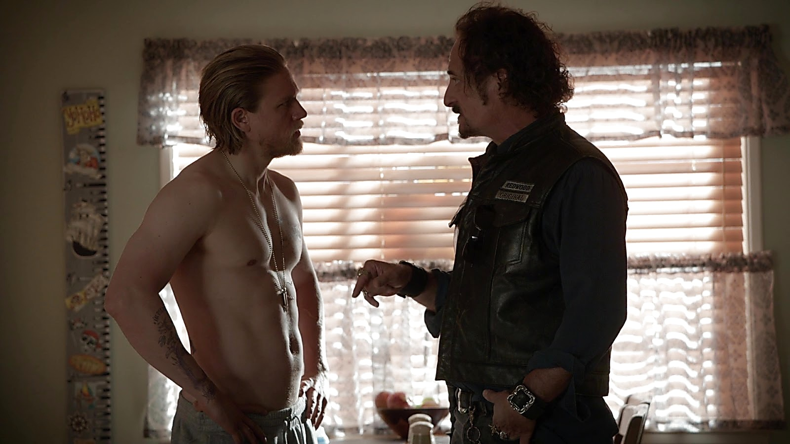 Charlie Hunnam sexy shirtless scene April 4, 2020, 12pm