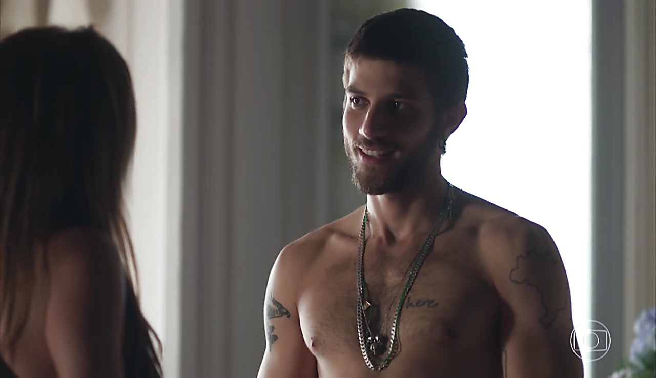 Chay Suede sexy shirtless scene June 15, 2018, 1pm