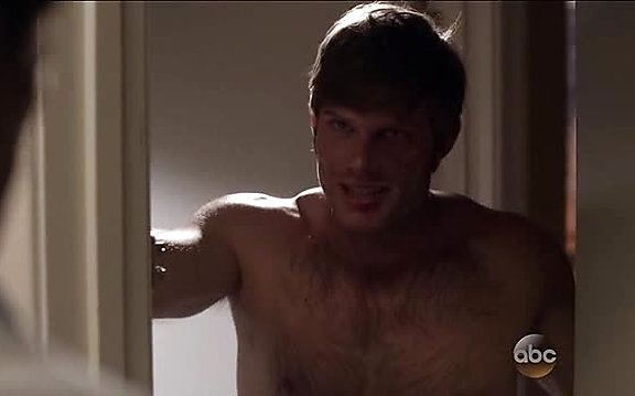 Chris Carmack sexy shirtless scene October 27, 2014, 11am